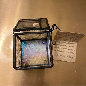 Storage & Organization - J. Devlin stained glass jewelry box (small)